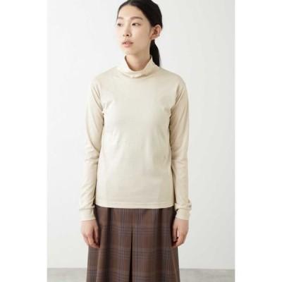HUMAN WOMAN / ヒューマンウーマン ◆ハイネックロングTシャツ