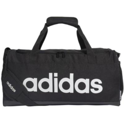 アディダス ダッフルバッグ S(ブラック/ブラック/ホワイト・容量:25L) adidas LINEAR LOGO DUFFEL BAG ADJ-GVN38-FL3693-NS 【返品種別A】