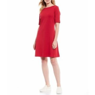 トッミーバハマ レディース ワンピース トップス Drapey Ponte Elbow Sleeve A-Line Dress Jester Red