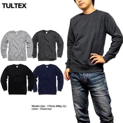 TULTEX トレーナー メンズ スウェット 裏毛 インナー 無地 定番 3L ブラック 黒 杢グレー ネイビー スポーツ アメカジ