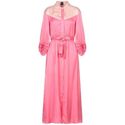 ピンコ PINKO ロングワンピース&ドレス ピンク 38 レーヨン 100% ロングワンピース&ドレス