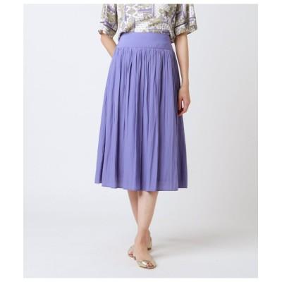 【ニューヨーカー】 シルクタッチポリエステル ギャザースカート レディース ラベンダー 11 NEWYORKER