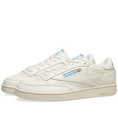 リーボック Reebok メンズ スニーカー シューズ・靴 Club C 85 Chalk/Paperwhite/Cyan