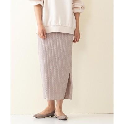 スカート 【innocent blue/イノセントブルー】サイドスリットタイトスカート ニットソー素材 ウエストゴム仕様