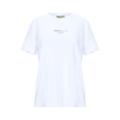 VERSACE JEANS T シャツ ホワイト XXS コットン 100% T シャツ