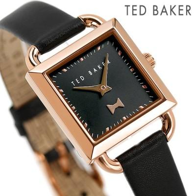 テッドベーカー 時計 タリアボウ 24mm レディース 腕時計 BKPTAS105 TED BAKER ブラック 革ベルト