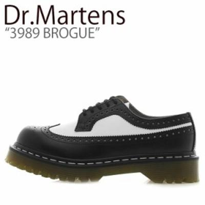 ドクターマーチン スニーカー Dr.Martens 3989 BROGUE 3989 ブローグ BLACK WHITE ブラック ホワイト 10458001 シューズ