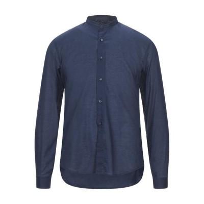 NEILL KATTER 無地シャツ  メンズファッション  トップス  シャツ、カジュアルシャツ  長袖 ダークブルー