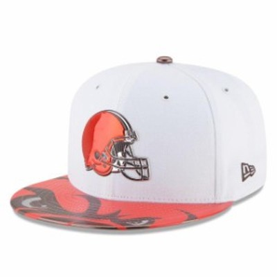 New Era ニュー エラ スポーツ用品  New Era Cleveland Browns Youth White 2017 NFL Draft Official On Stage 59FIFTY Fitte