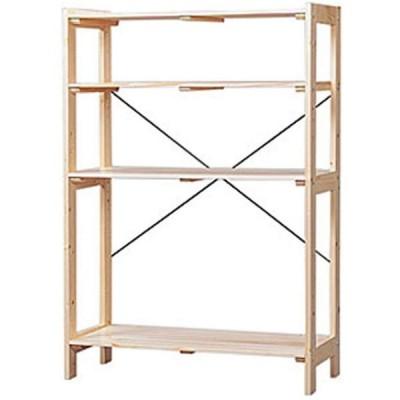 アイリスオーヤマ ラック 木製 幅83.5×奥行35×高さ118.5cm ウッディラック クリア WOR-8312