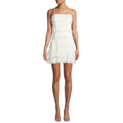 パーカー レディース ワンピース トップス Kristie Sleeveless Tiered Mini Dress