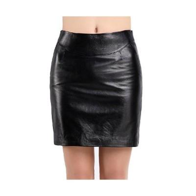 ラムレザースカート シンプル上品ペンシルスカート タイトスカート 細身 着痩せ オフィススカート フォーマルウェア 普段着 着回しスカートQZ183