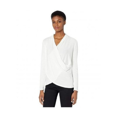 1.STATE ワンステート レディース 女性用 ファッション ブラウス Cross Front Cozy Knit Top - Soft Ecru