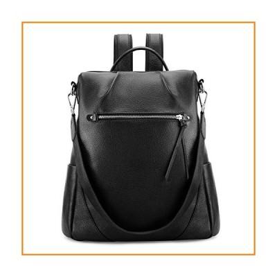 Kattee Leather Backpack Purse for Women Anti-theft Rucksack Shoulder Bag - Black【並行輸入品】