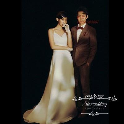 ウェデイングドレス 結婚式 二次会 旅行 前撮り ノースリーブ ドレス パーティードレス 高級感 花嫁 ドレス 後撮り 挙式 ロングドレス ウエディングドレス