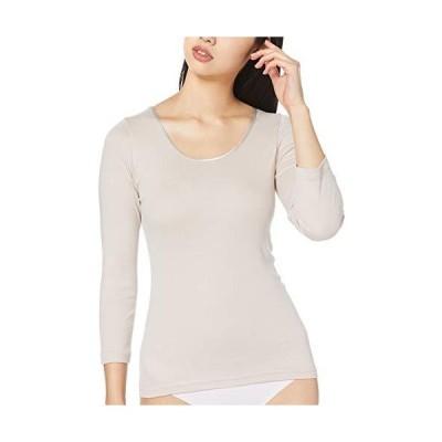 グンゼ インナーシャツ シーファー やわらか保湿 7分袖 CB4646 レディース クリスタルベージュ 日本L (日本サイズL相当)