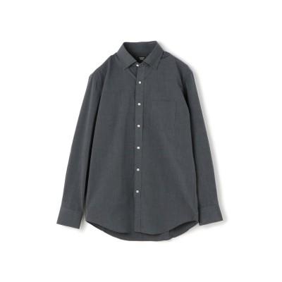 【メンズビギ】 ピンヘッドシャツ/スナップダウンカラー メンズ グレー M Men's Bigi