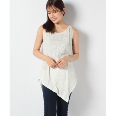 (Desigual/デシグアル)Tシャツ袖なし/レディース ホワイト系