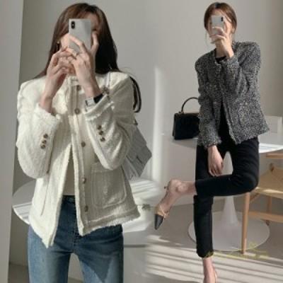 ブレザー スーツジャケット レディース 長袖 トップス ショート丈 ゆったり 韓国ファッション 通勤オフィス 秋コーデ フォーマル カジュ