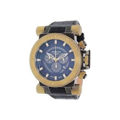 インヴィクタ Invicta メンズ Coalition Forces 18462 ブラック レザー Swiss クロノグラフ 腕時計