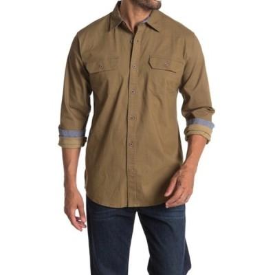 ウェザープルーフ メンズ シャツ トップス Twill Shirt KHAKI