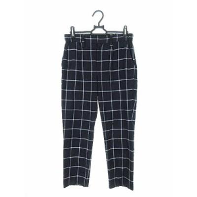 【中古】ラウンジドレス Loungedress パンツ スラックス チェック 0 紺 ネイビー /AKK10 レディース