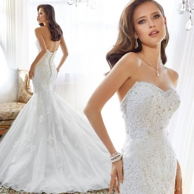 マーメイドドレス ウエディングドレス 安い ロングドレス 結婚式 ブライダル ウェディングドレス 二次会 マーメイドラインドレス シンプル 大きいサイズ