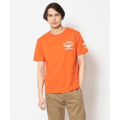 (AVIREX/アヴィレックス)クルーネック Tシャツ U.S.エアフォース/T-SHIRT U.S. AIR FORCE/メンズ ORANGE