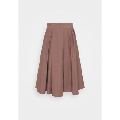 ポールスミス スカート レディース ボトムス WOMENS SKIRT - Pleated skirt - brown