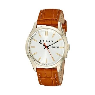 Ted Baker Men's 10023464 Brown Leather Quartz Dress Watch【並行輸入品】