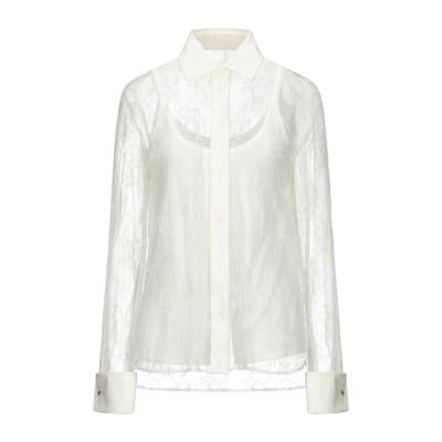 マックスマーラ MAX MARA シャツ ホワイト 46 ナイロン 70% / レーヨン 30% シャツ