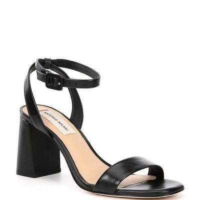 アントニオ メラーニ レディース サンダル シューズ Gwyn Square Toe Leather Ankle Strap Dress Sandals