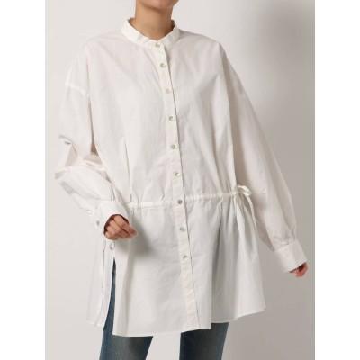 【公式】Ungrid(アングリッド)ウエストデザインノーカラーシャツ