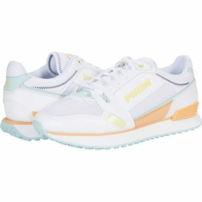プーマ PUMA レディース スニーカー シューズ・靴 Mile Rider Pastel Mix Puma White/Blue Glow/Peach Cobbler