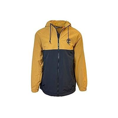 特別価格Timberland Men's Hooded Shell Rain Jacket (Black / Wheat, Medium)好評販売中