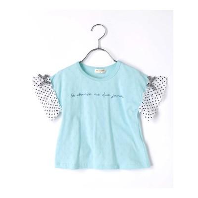 【PAL HOUSE】パターンメッシュTシャツ フリル袖