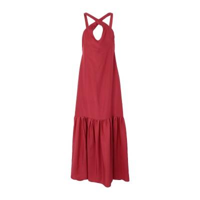 THREE GRACES LONDON ロングワンピース&ドレス レッド 10 シルク 100% ロングワンピース&ドレス