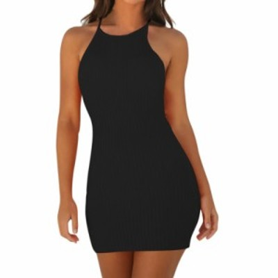 レディースファッションツ ファッション女性のセクシーなバックレスベーシックドレスVestidosボディコンドレスストラップソリッド