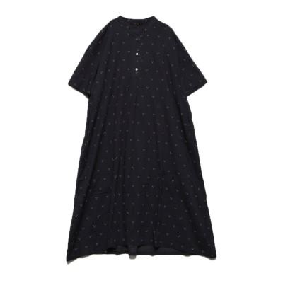 カンカン KANKAN オーガニックコットンつぶつぶドレス (ブラック)