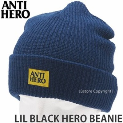 アンタイヒーロー LIL BLACK HERO BEANIE カラー:NAVY/YELLOW サイズ:OS