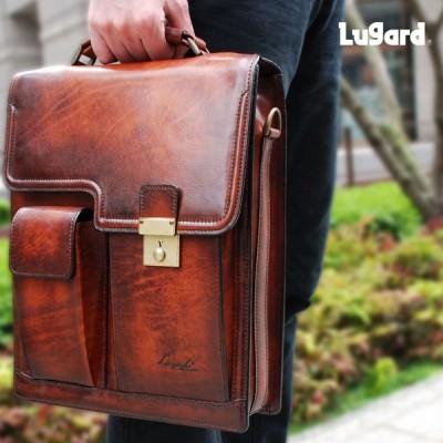 ビジネスバッグ メンズ 革 A4 ブリーフケース ブランド 本革 斜めがけ 2Way Lugard ラガード G3 ジースリー レザー 日本製 青木鞄 送料無料
