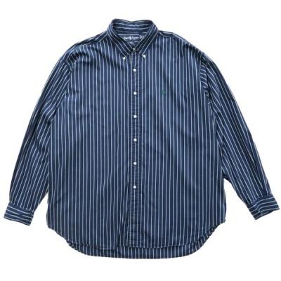 オールド ポロラルフローレン ストライプ ボタンダウンシャツ 長袖 サイズ表記:XXL