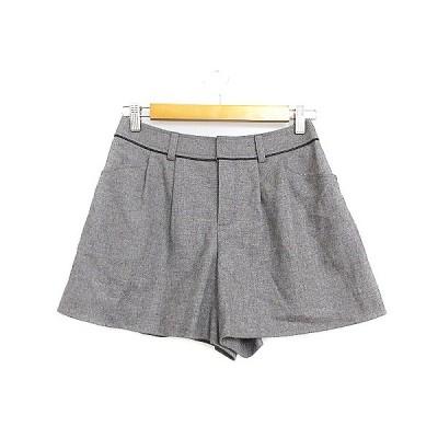 【中古】アンタイトル UNTITLED パンツ キュロット ショート タック フレア 2 グレー /AAM35 レディース 【ベクトル 古着】
