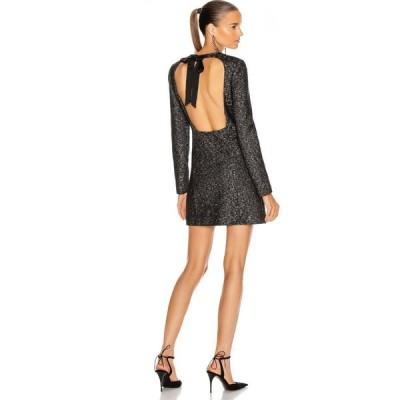イヴ サンローラン Saint Laurent レディース パーティードレス 結婚式 ミニ丈 ワンピース・ドレス Cocktail Mini Dress Noir Or Argent