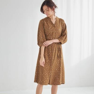 【3/27販売終了】羽織りにもなる綿レーヨンシャツワンピース(la*fite/ラ・フィット)