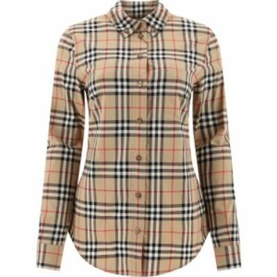 バーバリー Burberry レディース ブラウス・シャツ トップス Camicia Vintage Check Beige