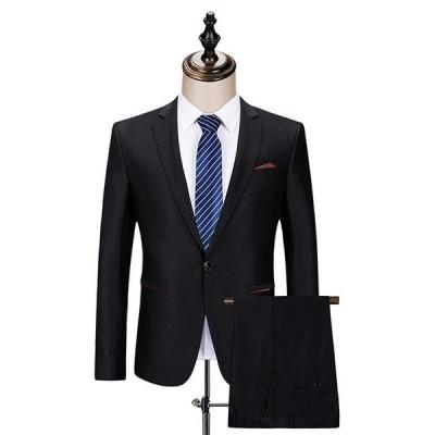 スーツ メンズ 礼服 フォーマル カジュアルスーツ スリム 2ピーススーツ セットアップ ビジネススーツ 就職 通勤 結婚式
