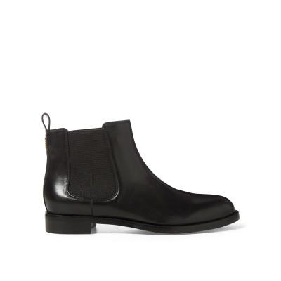 LAUREN RALPH LAUREN ショートブーツ ブラック 7.5 牛革 100% / 紡績繊維 ショートブーツ