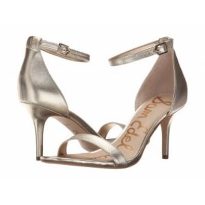 Sam Edelman サムエデルマン レディース 女性用 シューズ 靴 ヒール Patti Ankle Strap Heeled Sandal Light Gold Leather【送料無料】