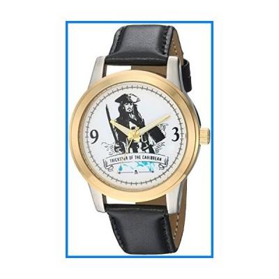 (輸入品)DISNEY Men's Pirates Analog-Quartz Watch with Leather-Synthetic Strap, Black, 18 (Model: WDS000378)